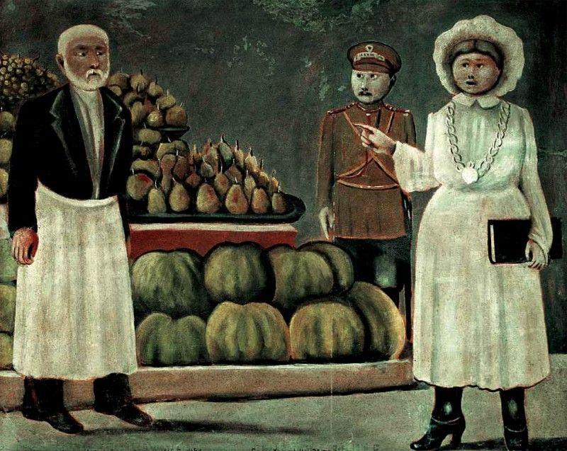 Sanitary inspector woman of the market - Niko Pirosmani