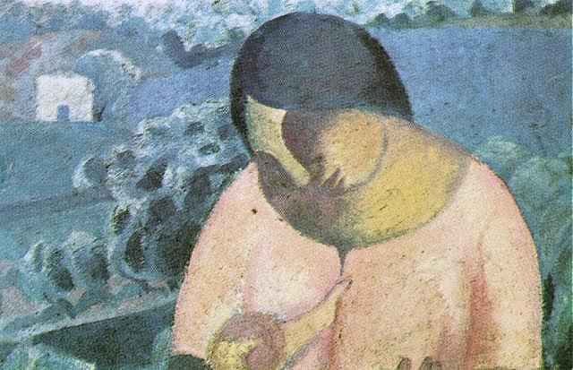 Woman Nursing Her Son - Salvador Dali