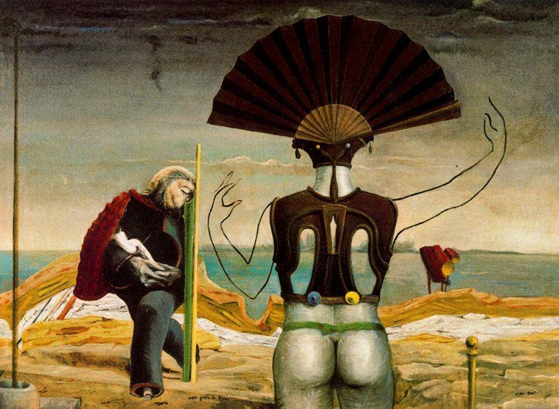 Woman, Old Man and Flower Femme - Max Ernst