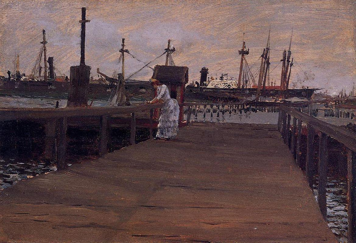 Woman on a Dock - William Merritt Chase