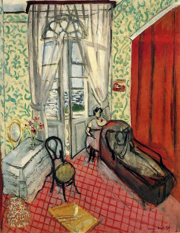 Woman on sofa or couch - Henri Matisse