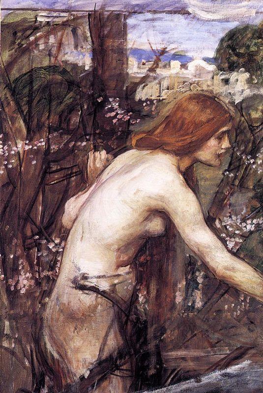 Woman Picking Flowers - John William Waterhouse