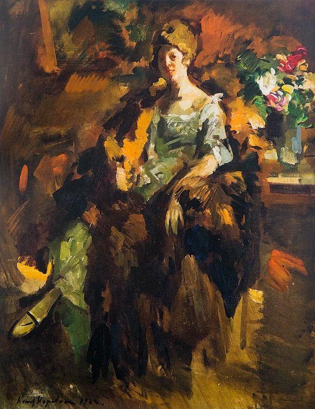 Woman portrait - Konstantin Korovin