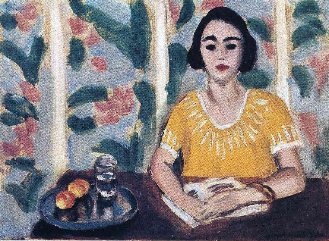 Woman Reading with Peaches - Henri Matisse