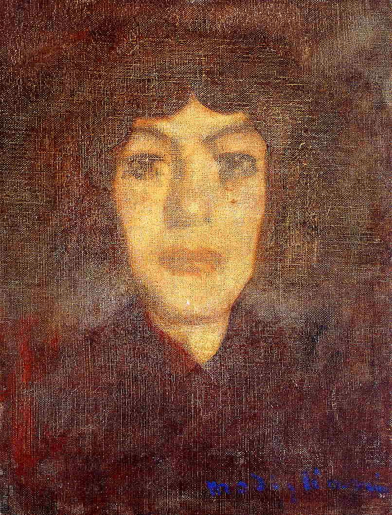 Woman's Head with Beauty Spot - Amedeo Modigliani