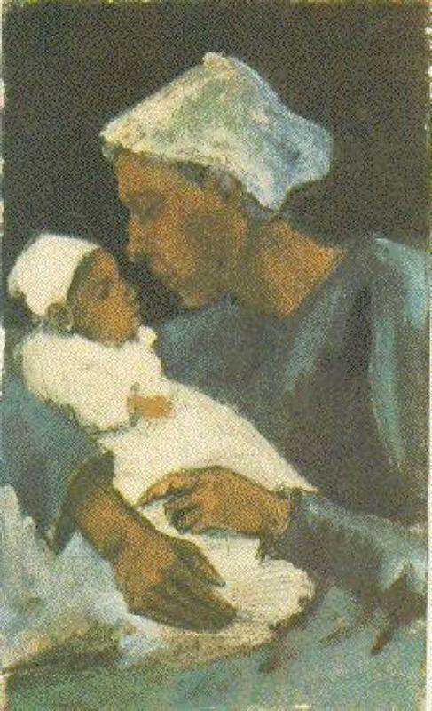 Woman Sien with Baby on her Lap, Half-Figure - Vincent van Gogh