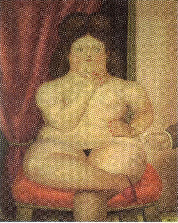 Woman Sitting - Fernando Botero