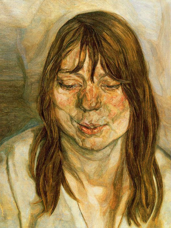 Woman Smiling - Lucian Freud