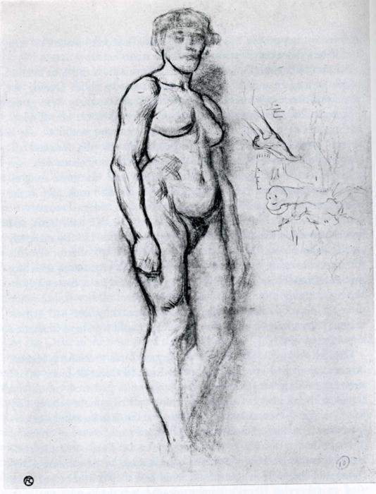 Woman Standing in Semi Profile - Henri de Toulouse-Lautrec