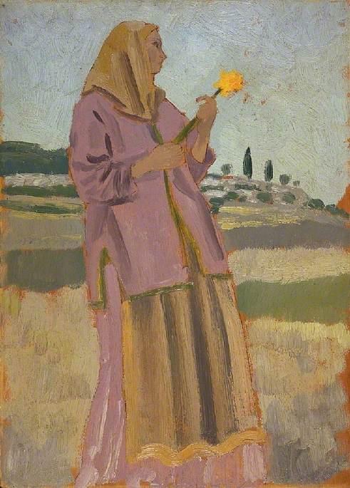 Woman with a Daffodil - Augustus John