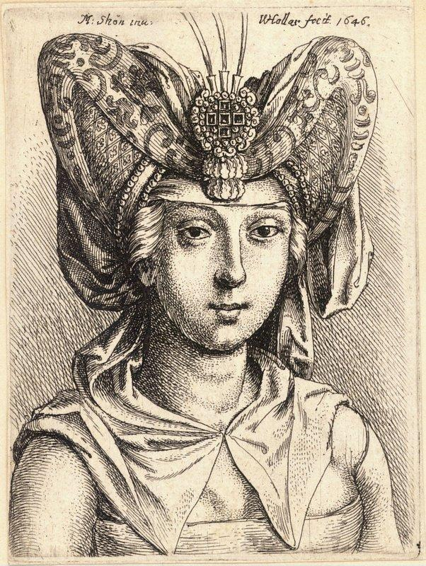 Woman with a turban - Martin Schongauer
