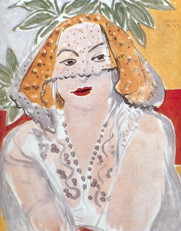 Woman with a Veil - Henri Matisse