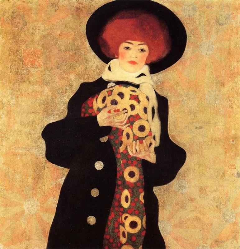 Woman with Black Hat - Egon Schiele