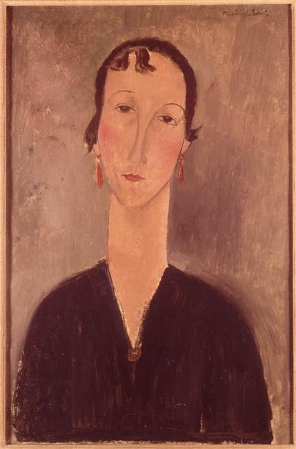 Woman with earrings - Amedeo Modigliani