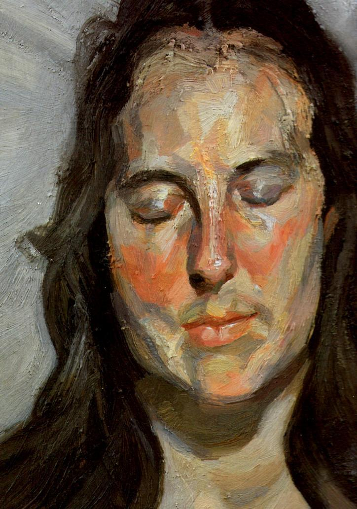Woman with Eyes Closed - Lucian Freud