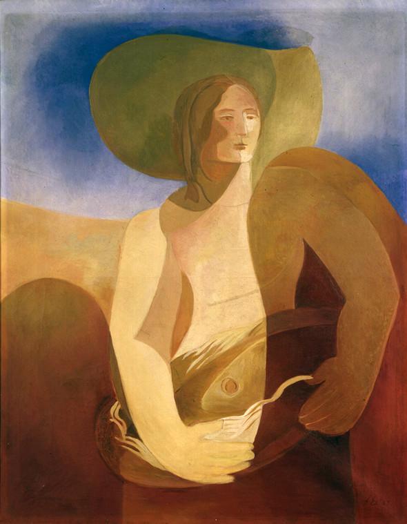 Woman with fish - Aleksandra Ekster