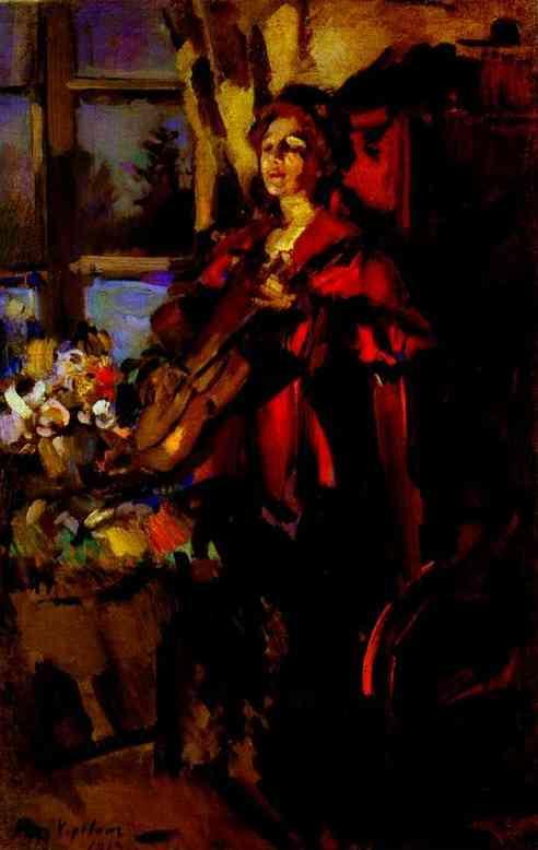Woman with Guitar - Konstantin Korovin