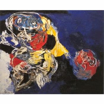 Woman with Head - Karel Appel