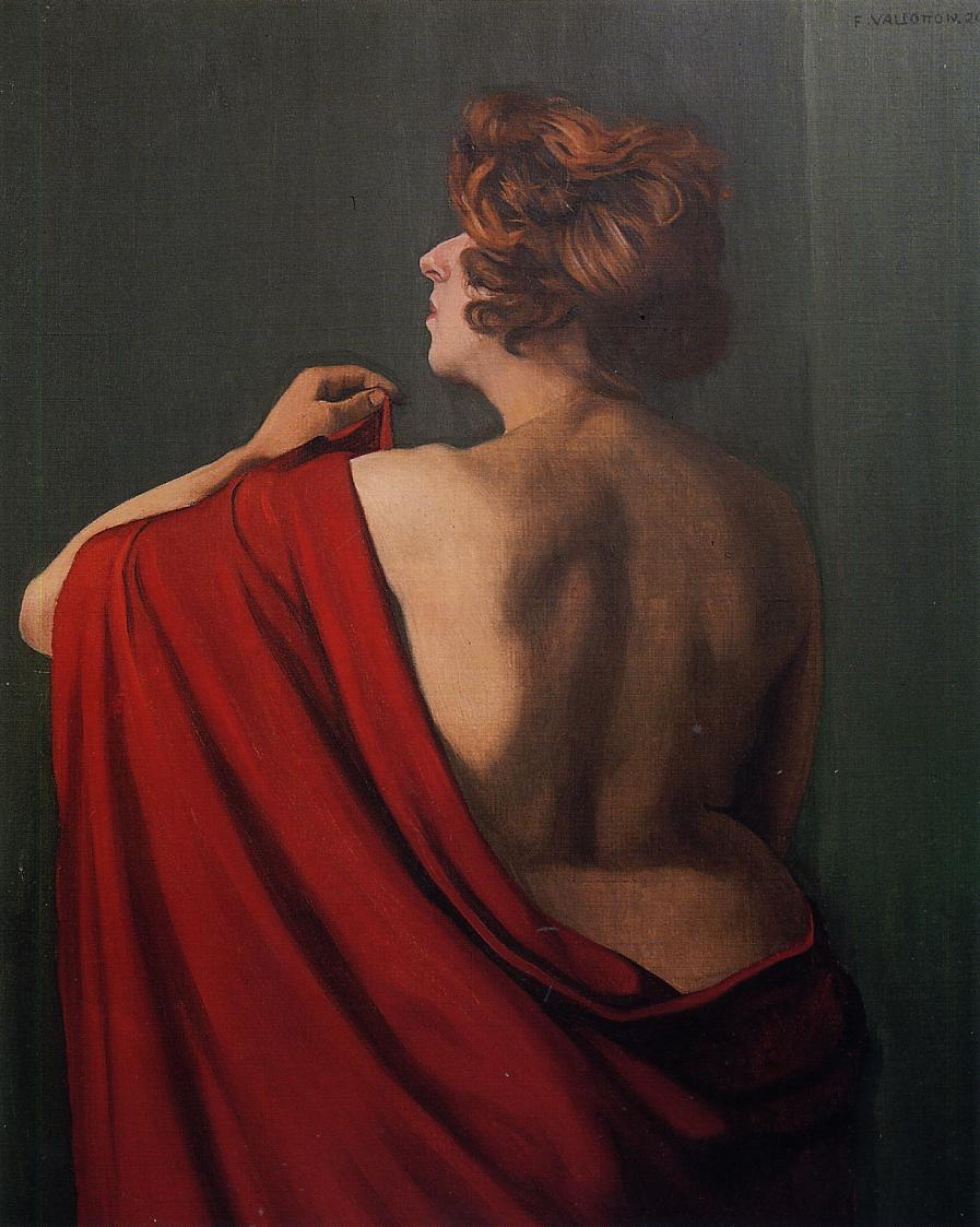 Woman with Red Shawl - Felix Vallotton