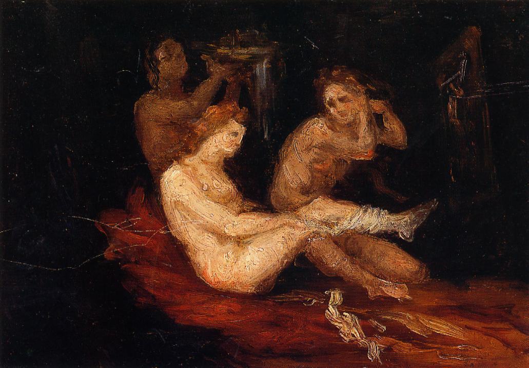 Women Dressing - Paul Cezanne