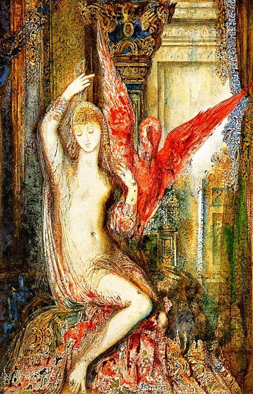 Women ibis pink - Gustave Moreau