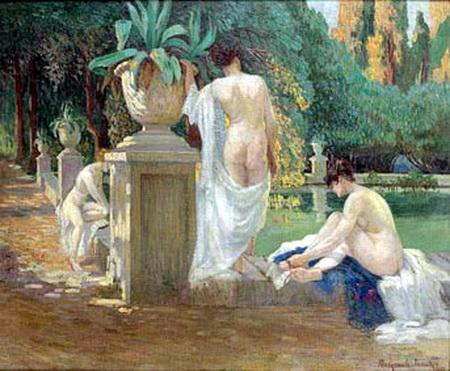 Women on the Pond Shore - Nikolay Bogdanov-Belsky