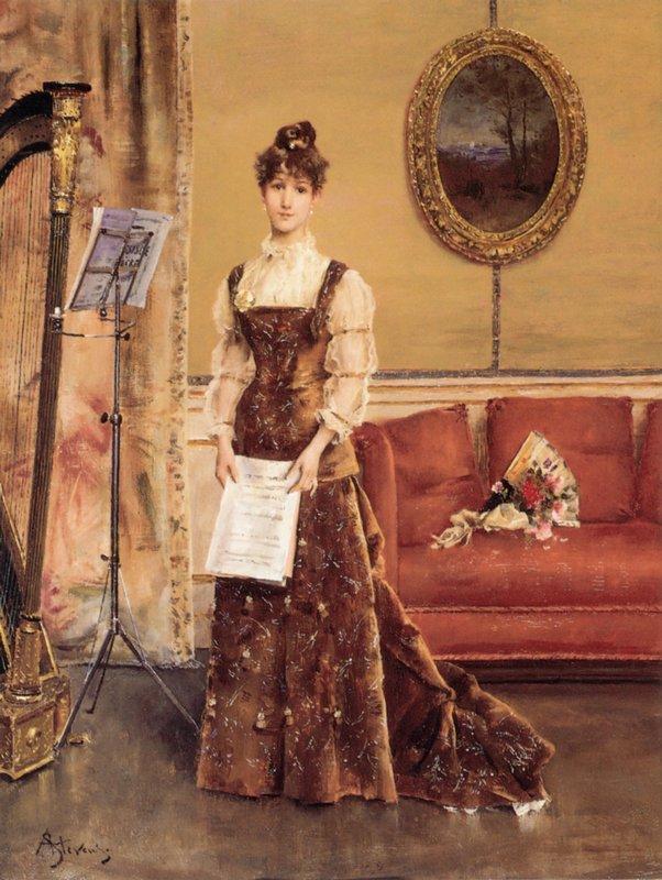 Women's Harp - Alfred Stevens