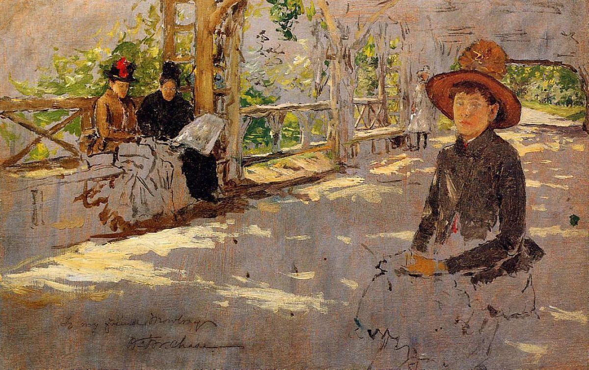 Women under Trellis - William Merritt Chase