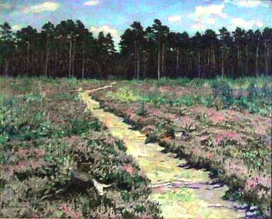 Wood Path in Spring - Nikolay Bogdanov-Belsky