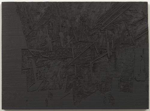 Woodblock for The Harbor (Hafen) - Lyonel Feininger