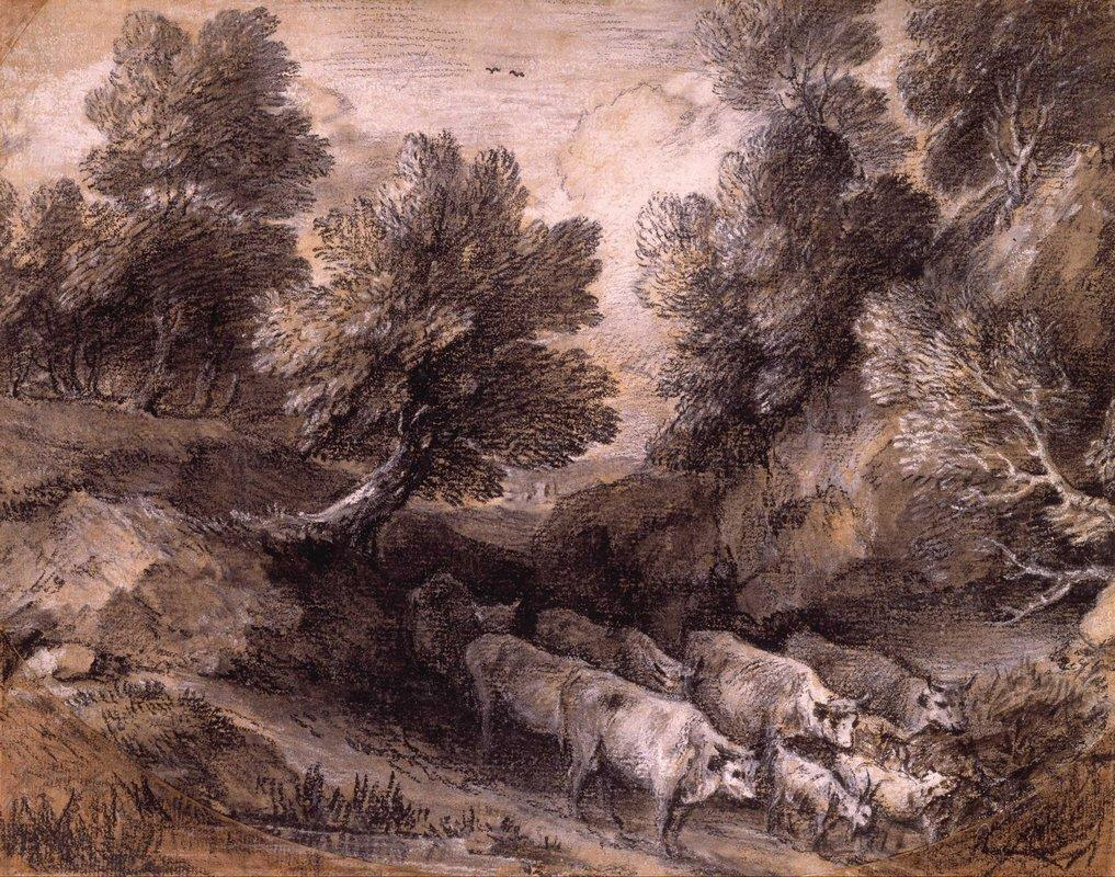 Wooded Landscape with Cattle and Goats - Thomas Gainsborough