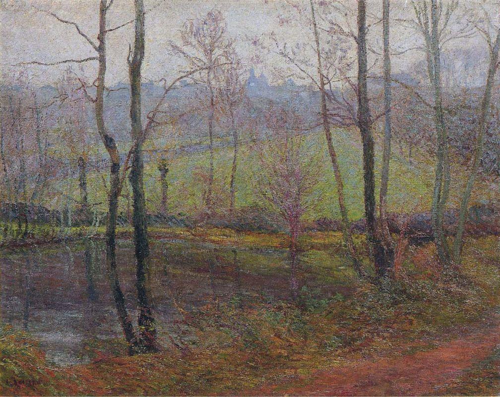 Wooded Landscape - Albert Bierstadt