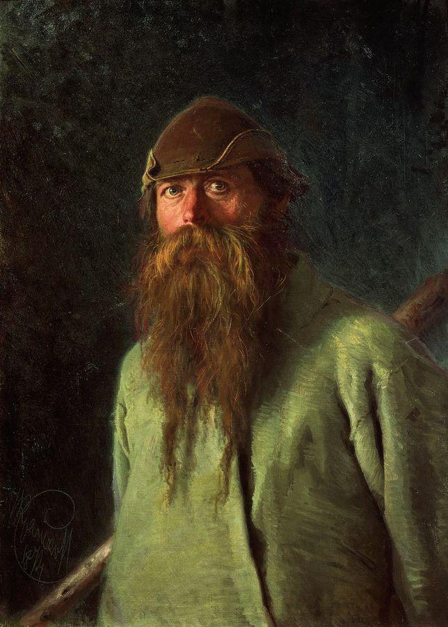 Woodsman - Ivan Kramskoy