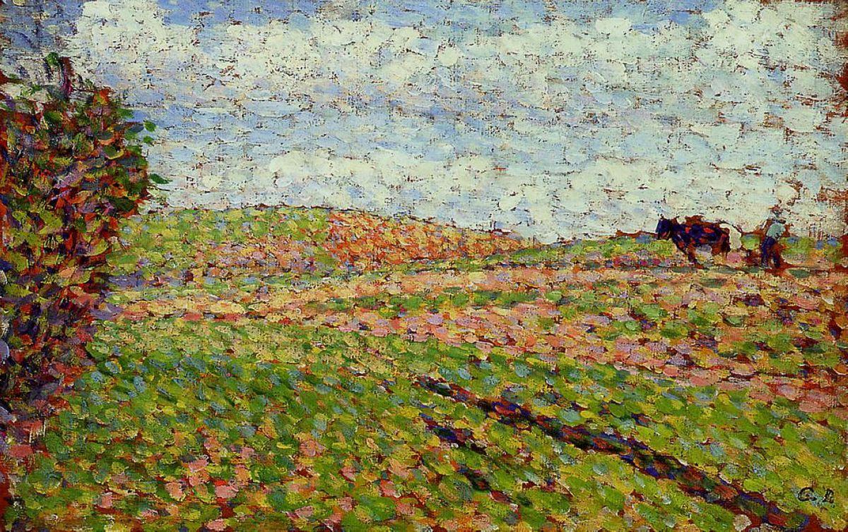 Working at Eragny - Camille Pissarro