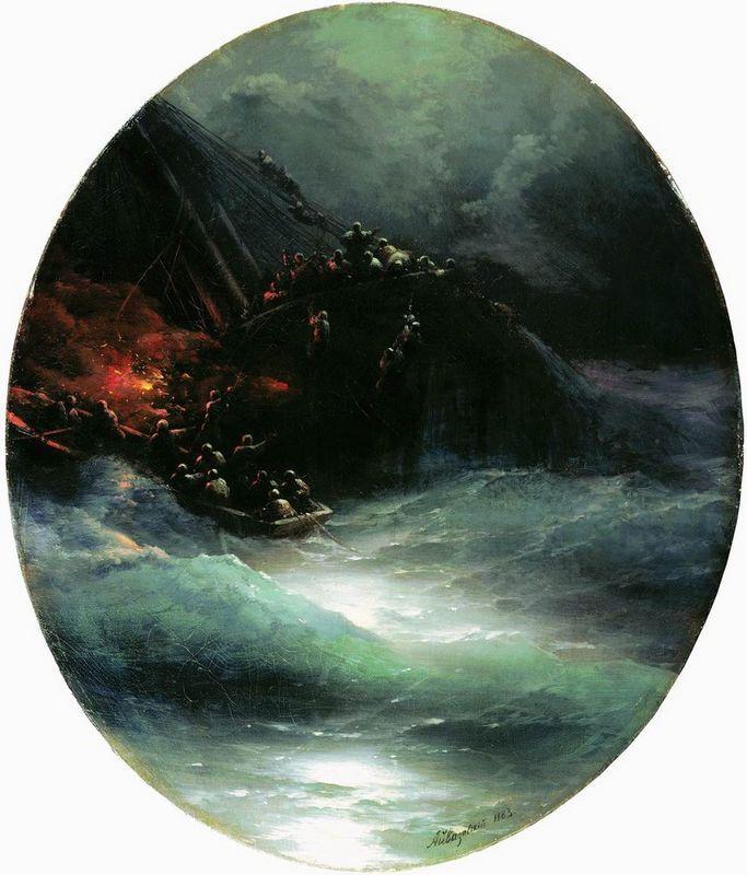 Wreck of a Merchant Ship in the Open Sea (Shipwreck) - Ivan Aivazovsky