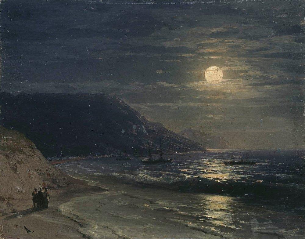 Yalta. The mountains at night - Ivan Aivazovsky