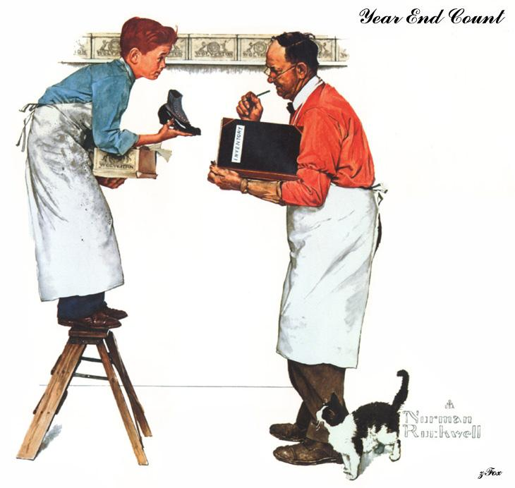 Year End Count - Norman Rockwell