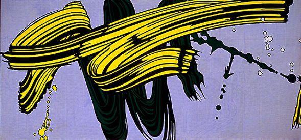 Yellow and green brushstrokes - Roy Lichtenstein