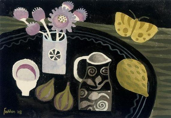 Yellow Butterfly - Mary Fedden