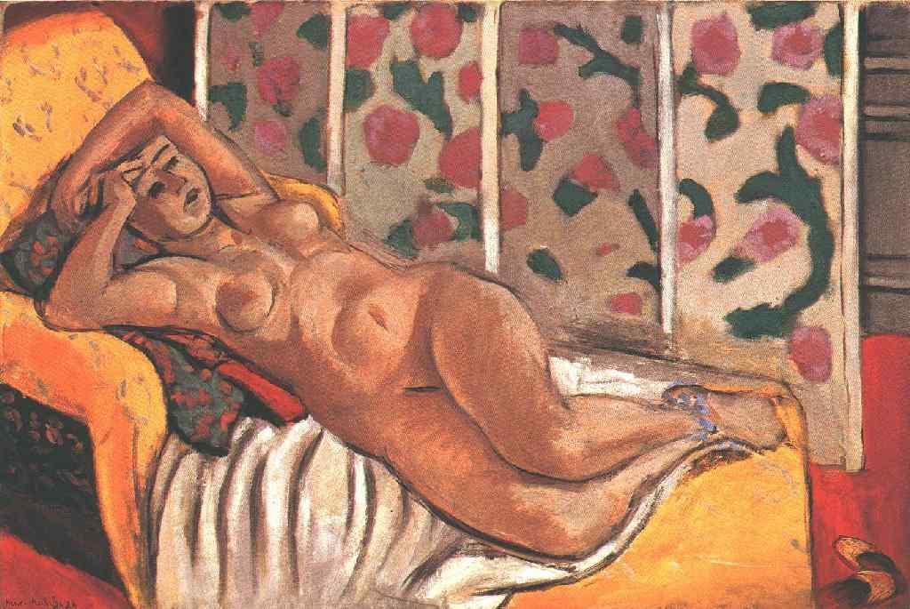 Yellow odalisque - Henri Matisse