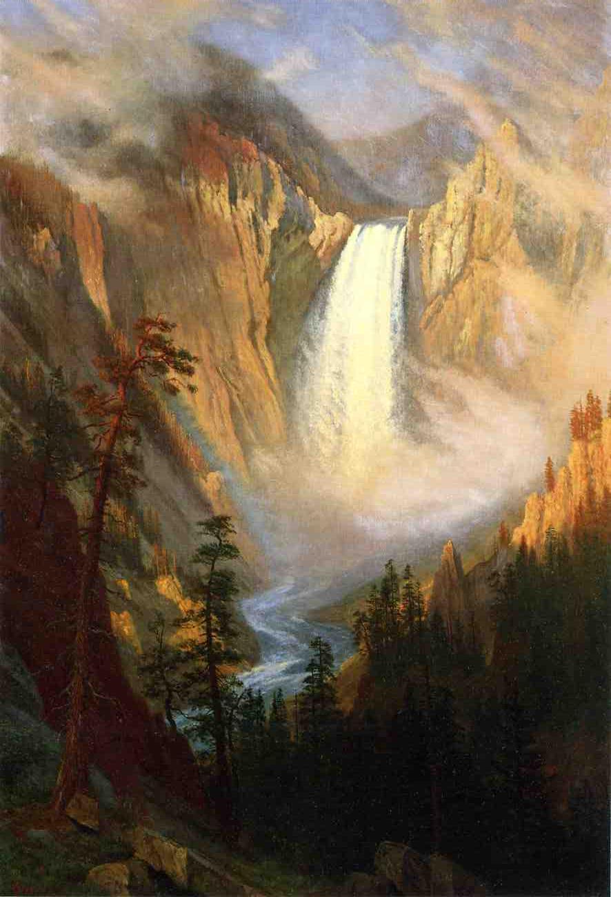 Yellowstone Falls - Albert Bierstadt