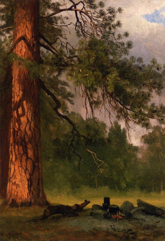 Yosemite Camp Kitchen - Albert Bierstadt