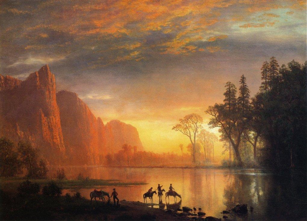 Yosemite Valley Sunset - Albert Bierstadt