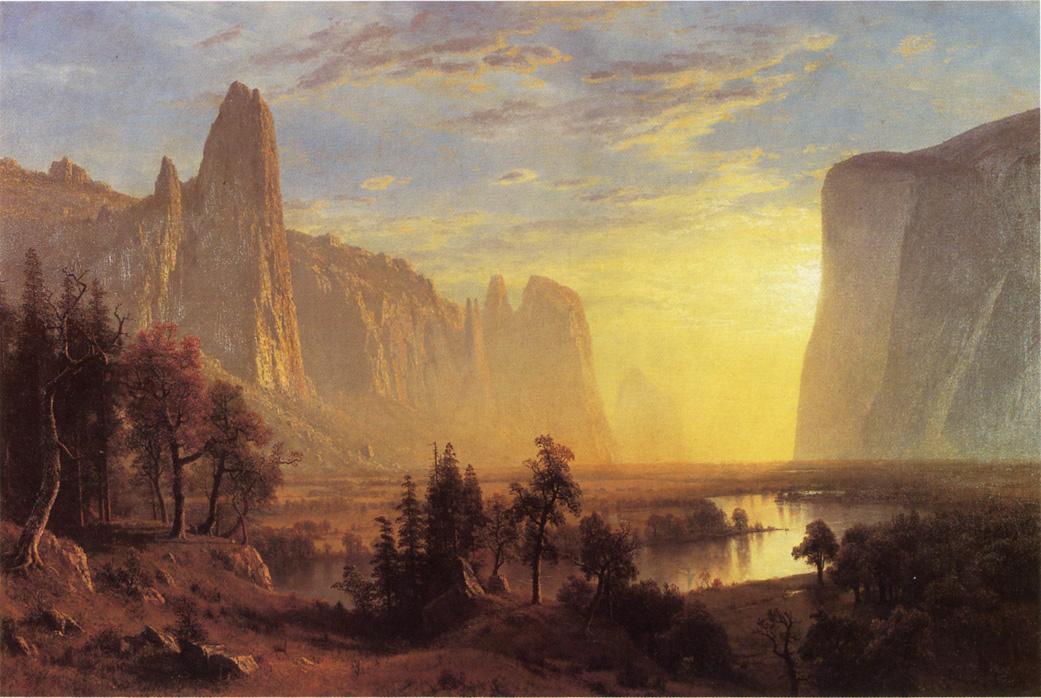 Yosemite Valley, Yellowstone Park - Albert Bierstadt