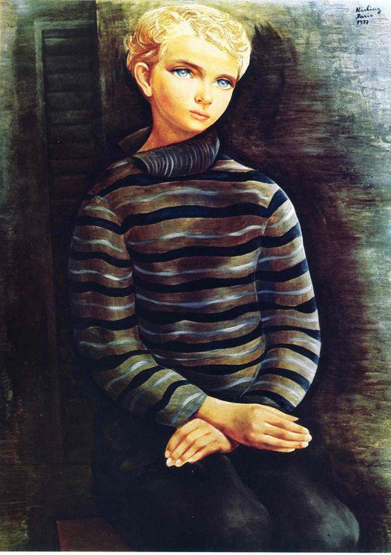 Young blond boy  - Moise Kisling