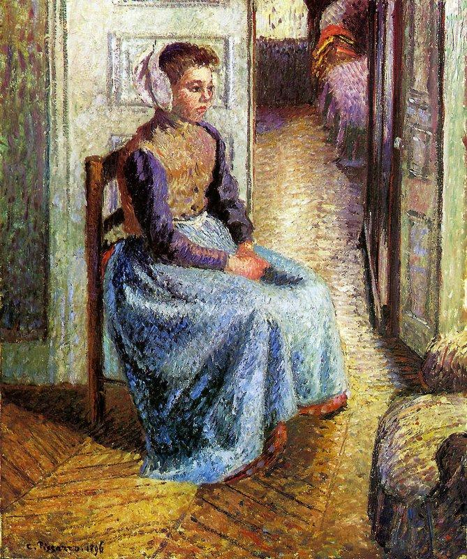 Young Flemish maid - Camille Pissarro
