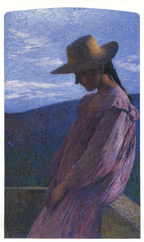 Young girl seated - Henri Martin