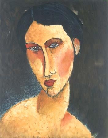 Young Girl with Blue Eyes - Amedeo Modigliani