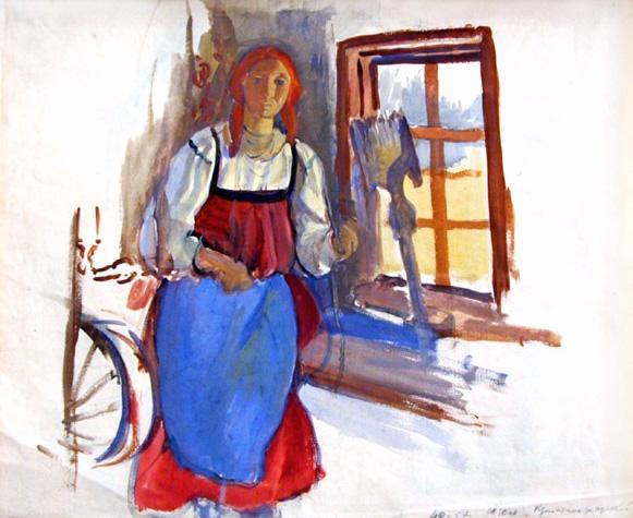 Young Girl - Zinaida Serebriakova