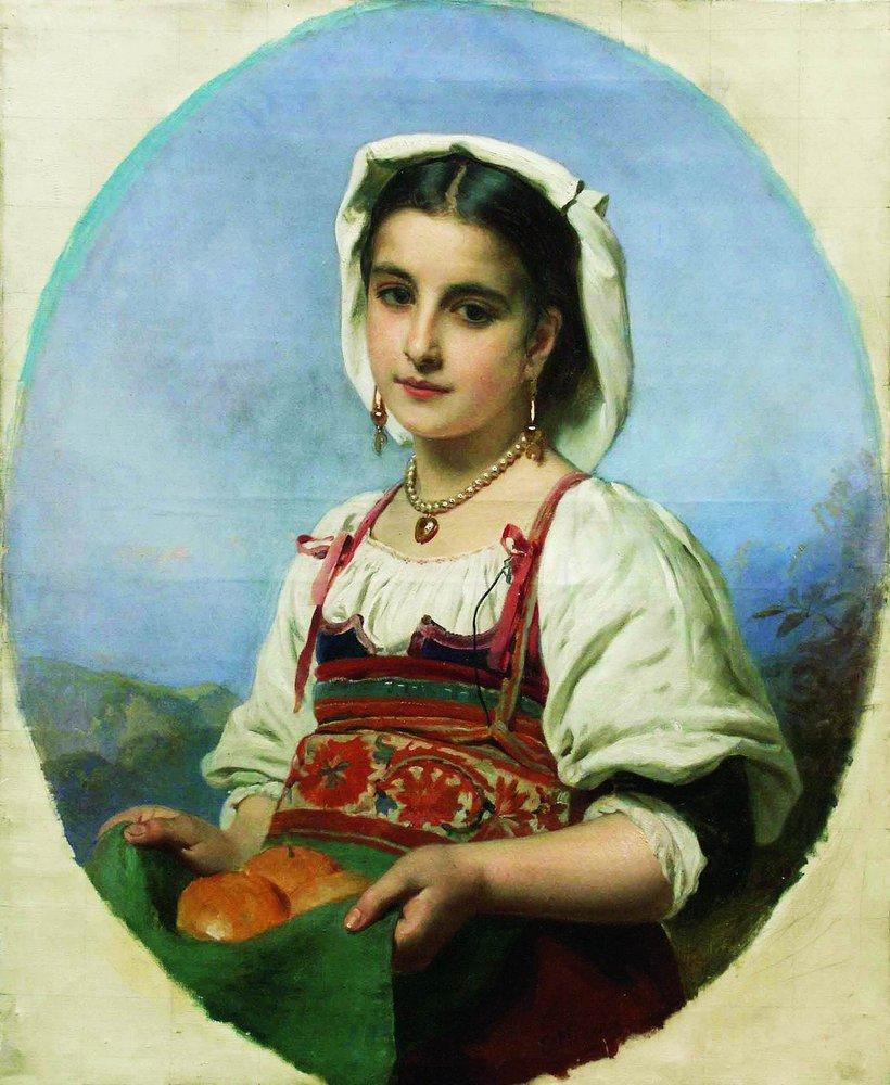 Young Italian with Sour Oranges - Konstantin Makovsky